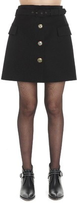 Givenchy Fitted Button Skirt