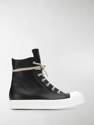 Rick Owens Contrast Hi-Top Sneakers