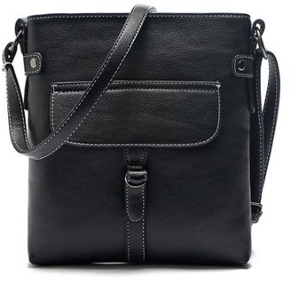 Clm Buckle Front Cross Body Purse