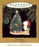 Hallmark Keepsake Ornament - Peanuts Blinking Lights Ornament 1993 (QLX7155)