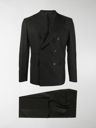 Tonello Double-Breasted Pleat Detail Suit