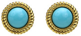 Ben-Amun St. Tropez Button Earrings in Turquoise