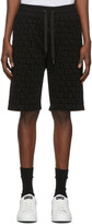Dolce & Gabbana Black Flocked Print Bermuda Shorts