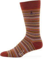 Original Penguin Adrian Combed Cotton Striped Socks