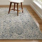 Crate & Barrel Trystan Indigo Blue Wool-Blend Rug