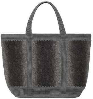 Vanessa Bruno Medium tweed cabas tote bag