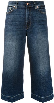 7 For All Mankind Luxe Vintage wide-leg cropped jeans