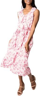 Gibson Ruffle Wrap Midi Dress