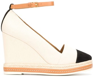 Tory Burch canvas wedged espadrilles