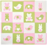Tadpoles TadpolesTM by Sleeping Partners Teddy & Friends 16-Piece Playmat Set in Pink/White/Green