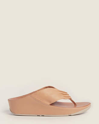FitFlop Blush Twiss Leather Flip Flops
