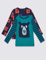 Marks and Spencer 2 Pack Long Sleeve Tops (3 Months - 5 Years)