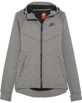 Nike Tech Fleece Stretch Cotton-blend Jersey Hooded Top - small