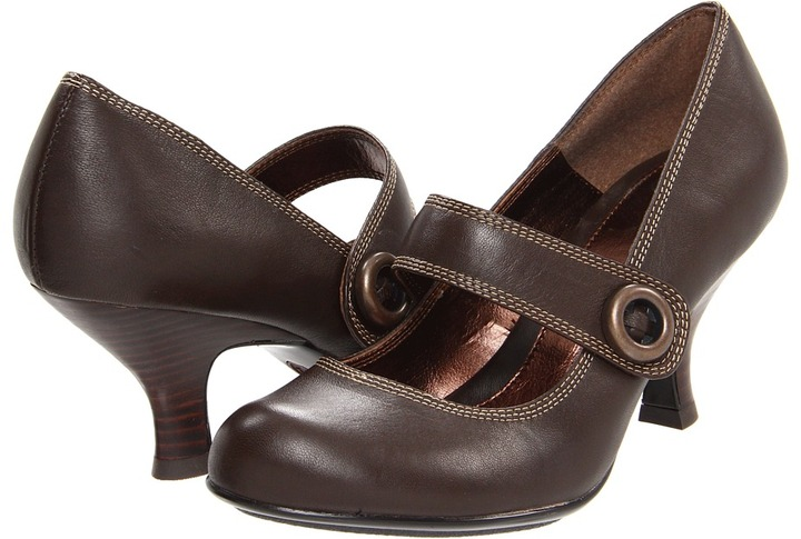 Sofft Valda (Coffee Velvet Sheep Nappa) - Footwear