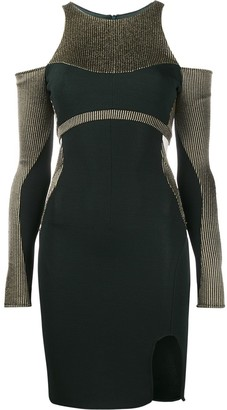 Esteban Cortazar Cold Shoulder Fitted Dress