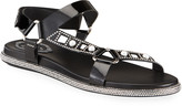 Rene Caovilla Embellished Patent Leather Sandals