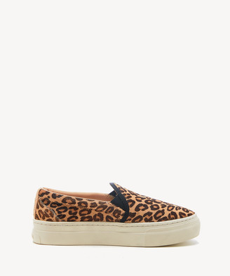 Soludos Women's Bondi Printed Sneakers In Color: Leopard Slip On Size 6 Haircalf From Sole Society