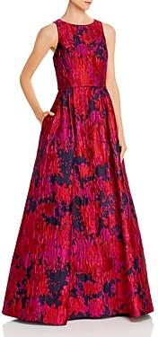 Aidan Mattox Floral Brocade Gown