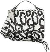 Calvin Klein Statement Series Fringe Print Messenger Bag