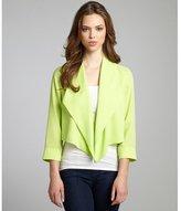 Tahari neon green open front three quarter sleeve 'Farella' jacket