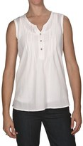 White Sierra Dry Creek Shirt - Cotton Gauze, Pintuck Front, Sleeveless (For Women)