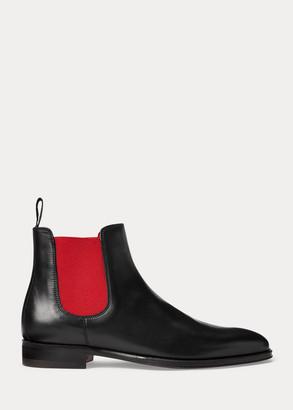 Ralph Lauren Olivine Calfskin Boot