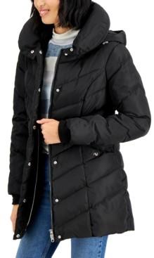 Madden-Girl Juniors' Hooded Puffer Coat
