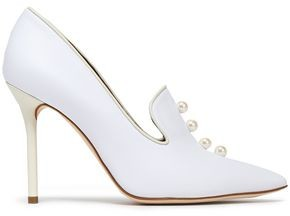Malone Souliers Faux Pearl-embellished Leather Pumps