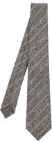 Brunello Cucinelli Diagonal Striped Silk Tie
