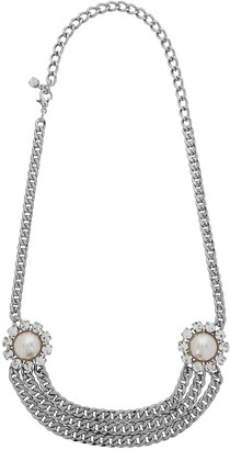 Alessandra Rich Embellished silver-tone chain belt