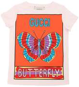 Gucci Butterfly Print Cotton Jersey T-Shirt