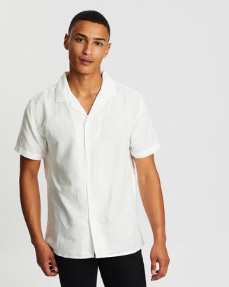 rhythm Linen Cuban SS Shirt