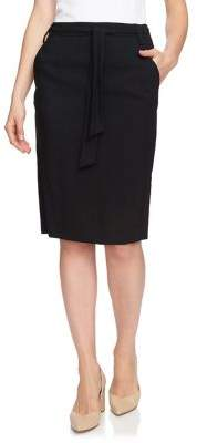 1.STATE Classic Tie-Front Skirt