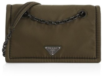 Prada Tessuto Nylon Chain Shoulder Bag