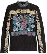 Peter Pilotto Embroidered High Neck Top