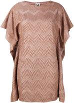 M Missoni zig-zag mini dress - women - Cotton/Polyamide/Polyester/Metallic Fibre - S