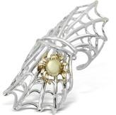Bernard Delettrez Spiderweb Silver and Bronze Articulated Ring