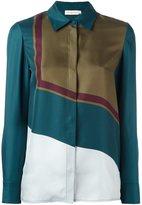 Tory Burch geometric print shirt - women - Silk - 8
