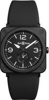 Bell & Ross Aviation BR S black ceramic and strap watch