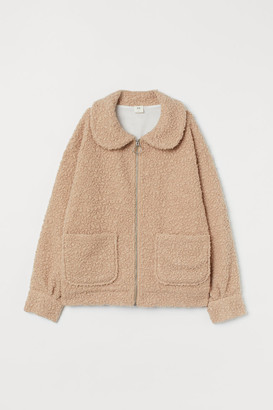 H&M Faux Shearling Jacket - Beige
