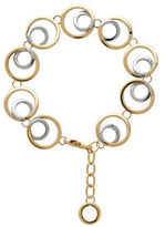 Lord & Taylor 14K Italian Gold Double Open Circle Link Necklace
