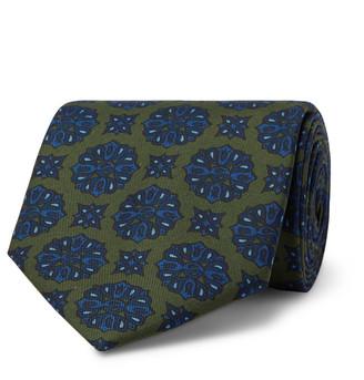 E.Marinella 8.5cm Floral-Print Silk-Twill Tie