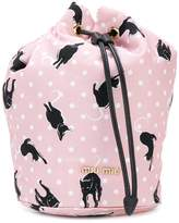 Miu Miu cat print bucket bag