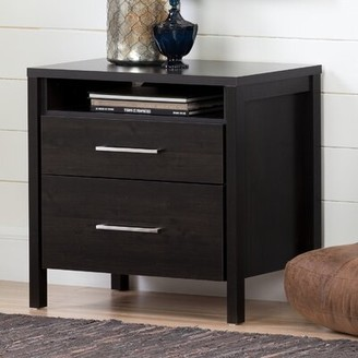 South Shore Gravity 2 - Drawer Nightstand Color: Ebony