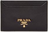 Prada Black Leather Card Holder