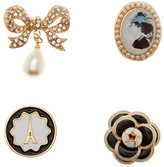 Cara Accessories Floral Bow Pin - Set of 4