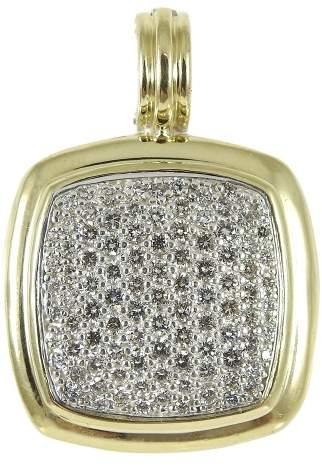 David Yurman 925 Sterling Silver 18K Yellow Gold 1.30tcw Diamond Albion Enhancer Pendant