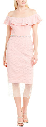 Isabel Garcia Lace-Trim Sheath Dress