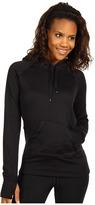 adidas Ultimate Solid Pullover Fleece Hoodie (Black/White) - Apparel