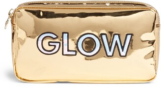 Stoney Clover Lane Glow Small Gold Patent Cosmetic Bag